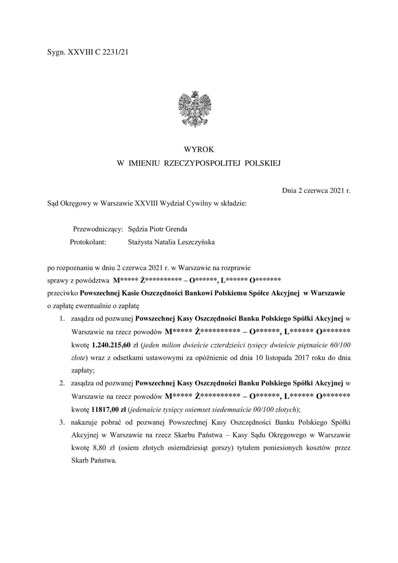 PKO BP SA - nieważna umowa